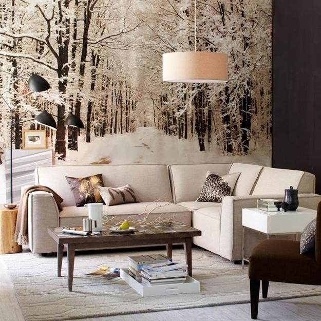 Ordinaire Winter Decorating With Neutral Colors, Wooden Furniture, Soft Home Fabrics  And Textures