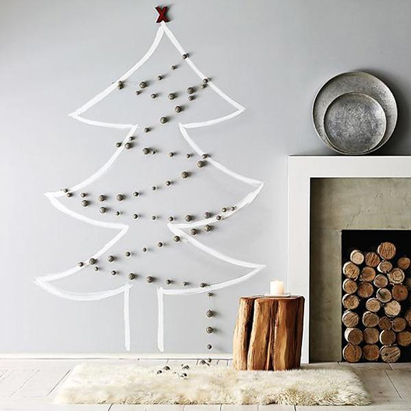 handmade christmas decorations, christmas tree for wall decoration
