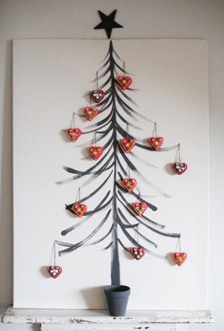 drawn on empty walls and decorative panels alternative christmas trees are a great way to support green living ideas while adding meaningful and simple