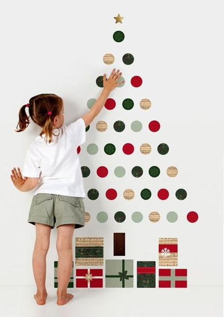 40 Diy Alternative Christmas Trees Adding Fun Wall Decorations To