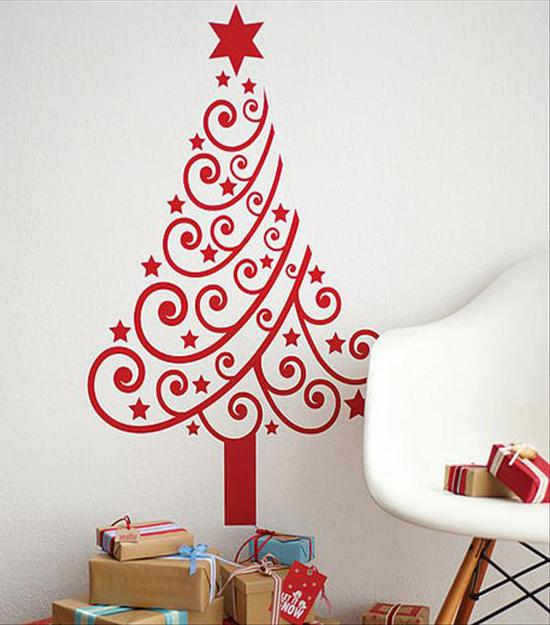 40 DIY Alternative Christmas Trees Adding Fun Wall Decorations to ...