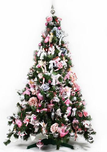 Christmas Tree Decoration Blending Purple And Pink Colors Into