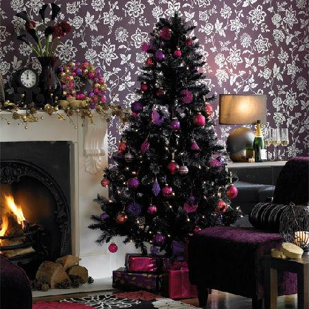 Purple And Silver Christmas Decorations  from www.lushome.com