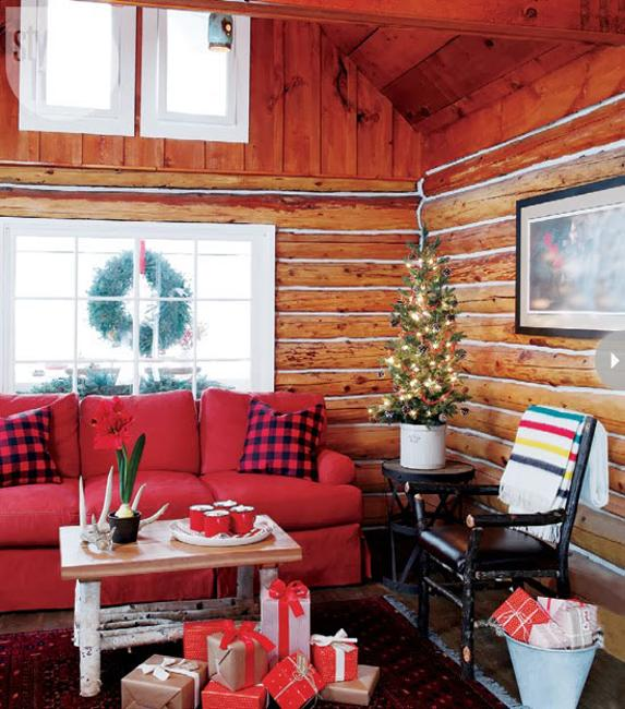Country Home Christmas Decorating Ideas Enhanced By Eco