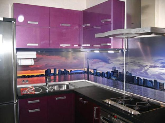 Attractive Digital Printing For Modern Kitchen Backsplash Design