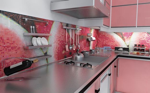 30 Amazing Design Ideas For A Kitchen Backsplash: Colorful Glass Backsplash Ideas Adding Digital Prints To