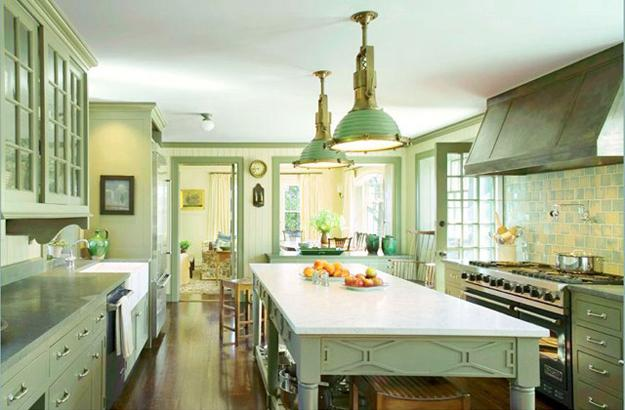 Changing Mood Of Modern Kitchen Design And Decor With Relaxing Green