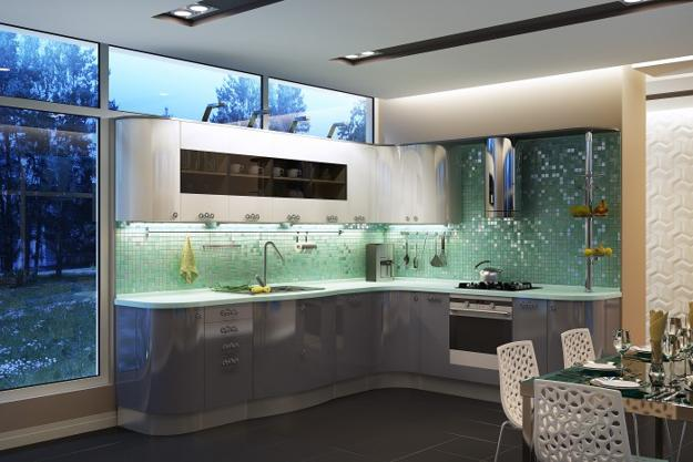Light Green Kitchen Backsplash Design Contemporary With Mosaic Wall Tiles