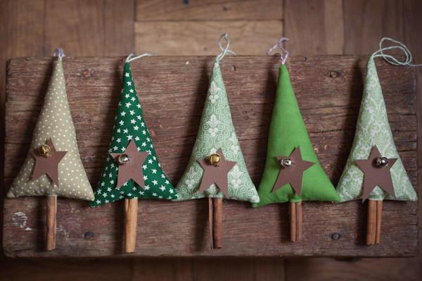Miniature Christmas Trees Made With Cinnamon Sticks Tree Decorations