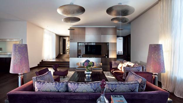 modern i nterior design and decor ideas, unusual frniture, lights and bright room colors