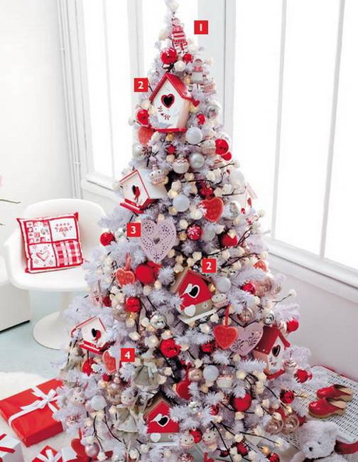 all these red accents make versatile home decorations and can remain after christmas as beautiful elements of winter decorating adding festive - Red And White Christmas Tree Decorations Ideas