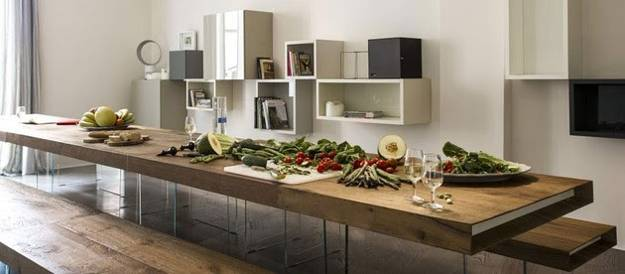 glass and wood dining table. Modern Furniture Design, Dining Table With Wooden Top And Glass Panel Base Wood