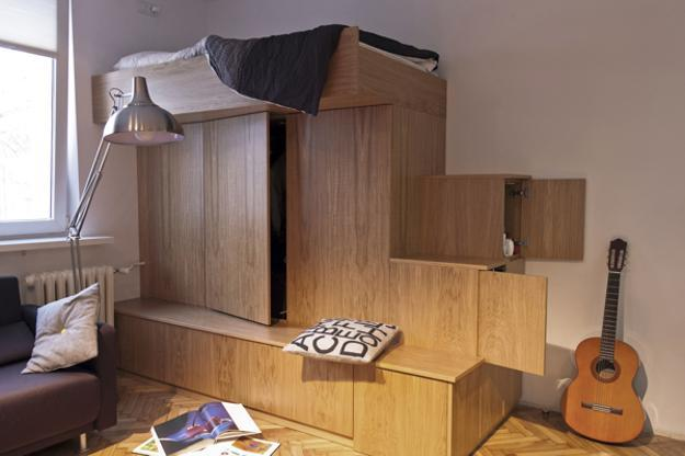compact furniture small spaces. Space Saving Furniture Design, Bed And Storage Cabinet Compact Small Spaces