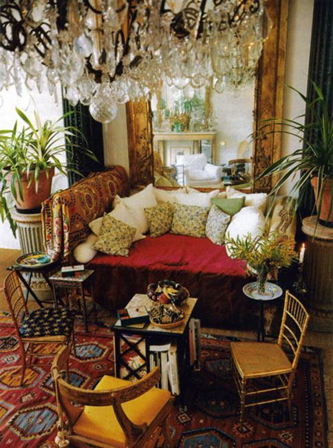Colorful Rugs In Living Room Bohemian Style