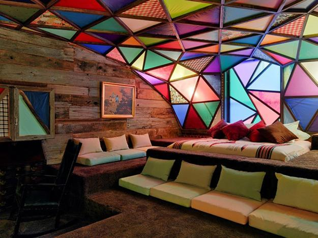 Unique Glass Ceiling Designs And Salvaged Wood Creating