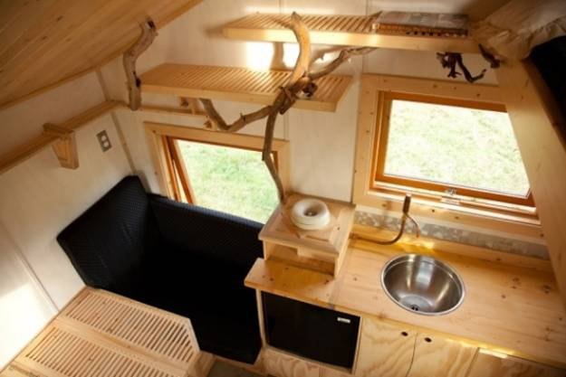 Small Es Trailer Home Interior Created With Wood