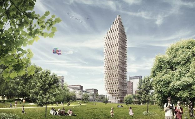 wooden skyscraper, sustainable design idea for green living