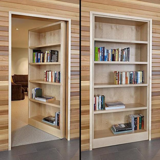 Charmant Space Saving Interior Doors With Shelves Offering Convenient Storage For  Small Spaces