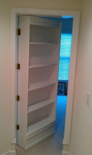 Space Saving Interior Doors With Shelves Offering Convenient Storage For Small Spaces