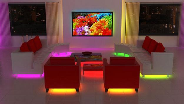 Modern Interior Design With Led Lights