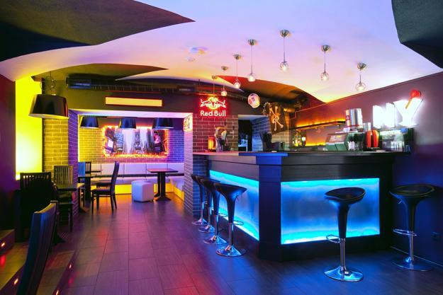 Modern Interior Design With Colorful Led Lighting Fixtures