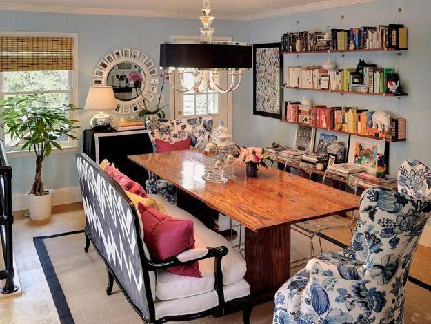 Modern Dining Room Decorating In Eclectic Style
