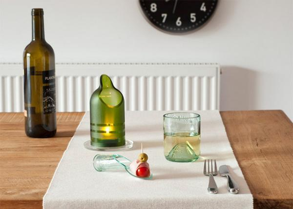 eco friendly products made of glass bottles