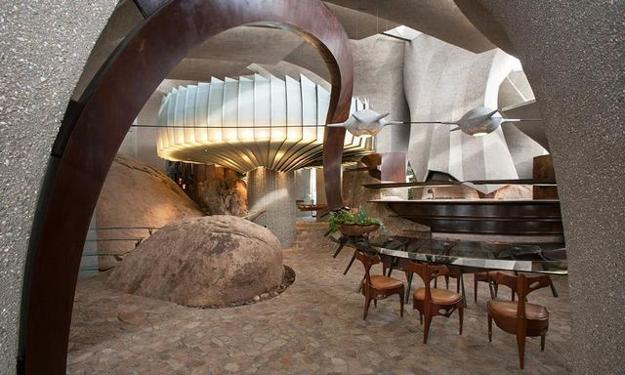 organic design and architectural interiors, desert house interior design