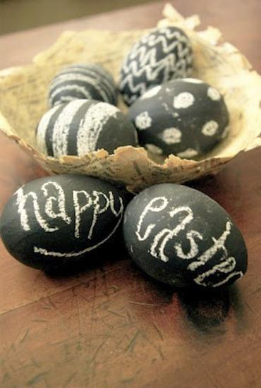 25 Easter Eggs Decoration Ideas In Black And White Colors