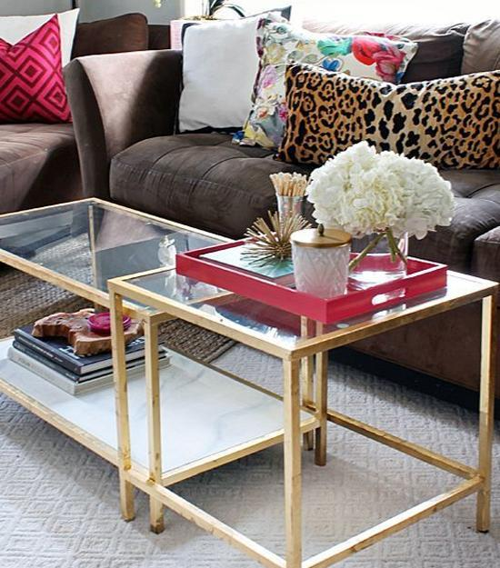 Coffee Table Decorating With Flowers And Candles