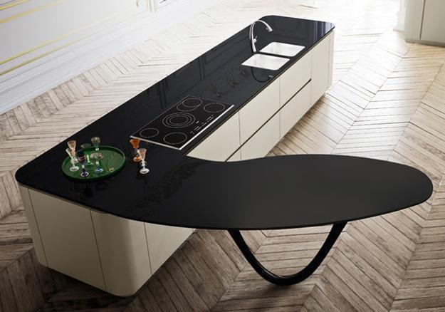 modern kitchen design, black and white decorating ideas