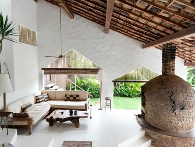 Ethnic Interior Design And Decor Ideas Blending Natural Beauty With Rustic  Wood In Brazilian Villa