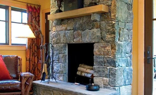 Decorating Stone Fireplace