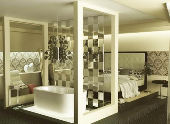 Bedroom Partition Walls : Glass partition wall design ideas and room dividers