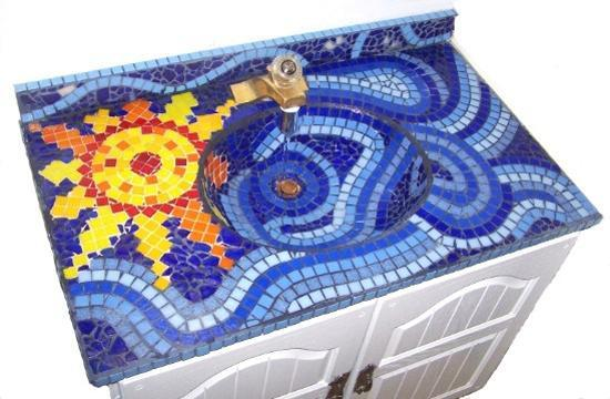 mosaic bathroom sink beautiful bathroom sinks decorated with mosaic tiles 13766