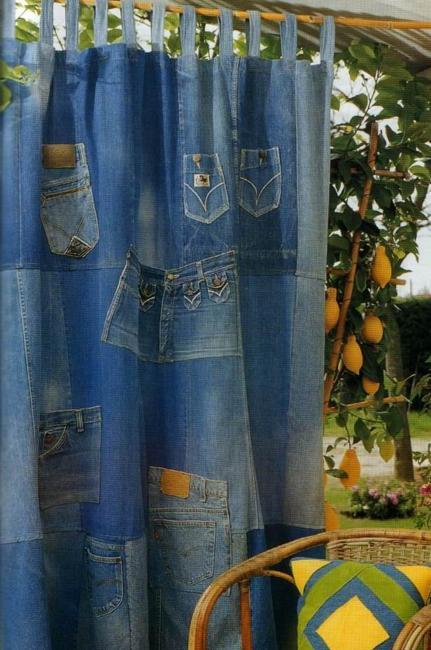 Recycled Crafts Turning Jeans And Labels Into Unique Home Furnishings