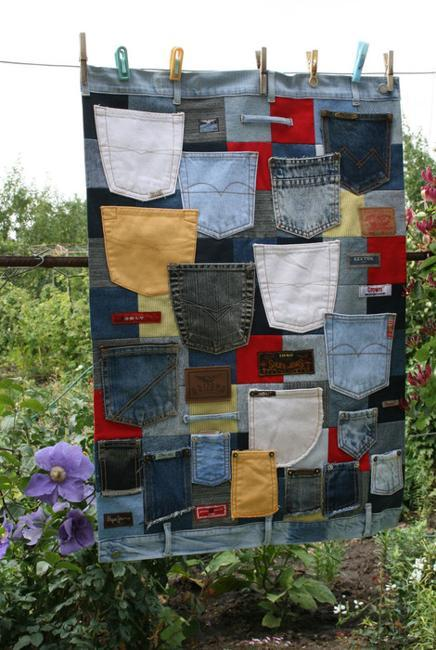 Recycled Crafts Turning Jeans And Labels Into Unique Home
