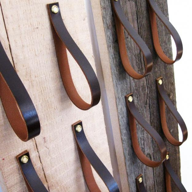 Recycling Leather And Wood For Crafts That Organize And Decorate Modern Kitchens