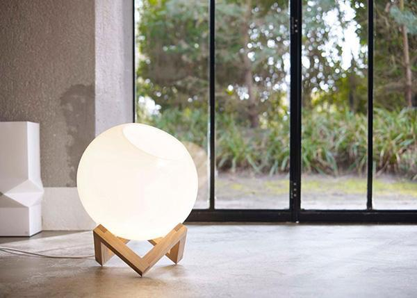 modern lighting design idea, floor lamps and table lamps with globes