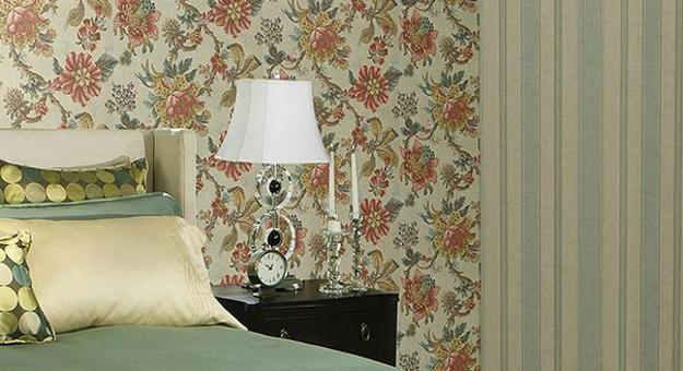Modern Wallpaper Combinations For Interior Decorating With Flowers