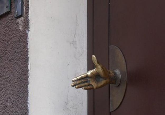 Recycling Metal Spoons For Door Handles, Antique Door Decorations