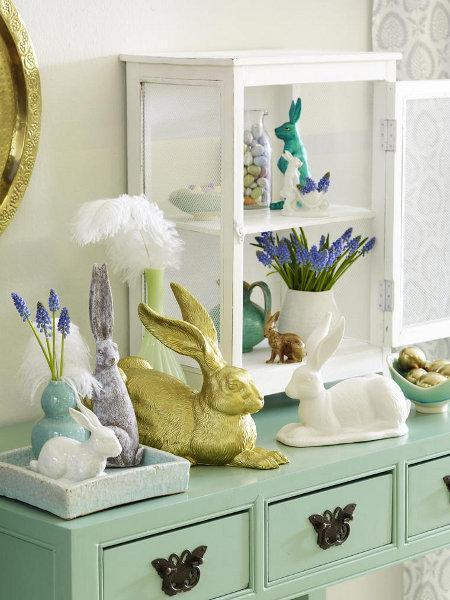 Quick easter decorating ideas with easter bunnies simple for Decor quick