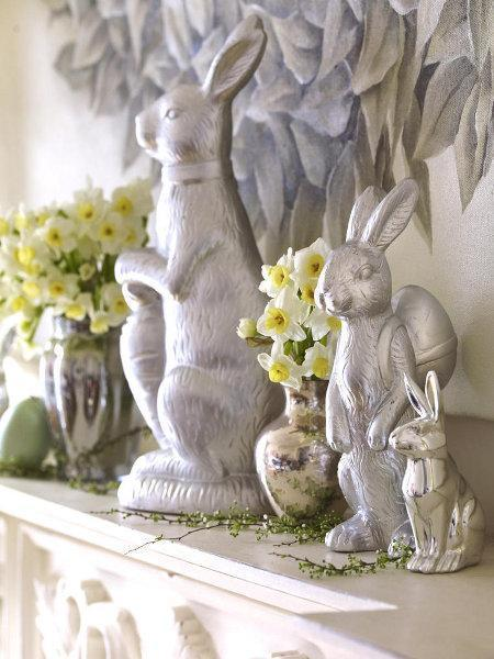 Quick Easter Decorating Ideas With Easter Bunnies Simple
