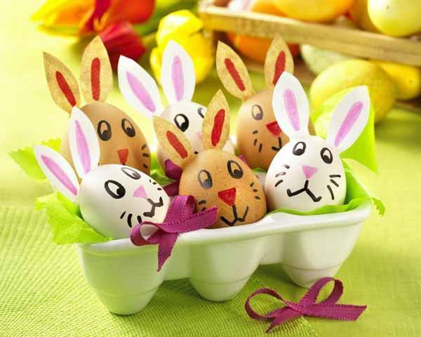 Easy easter bunny crafts and handmade table decoration ideas