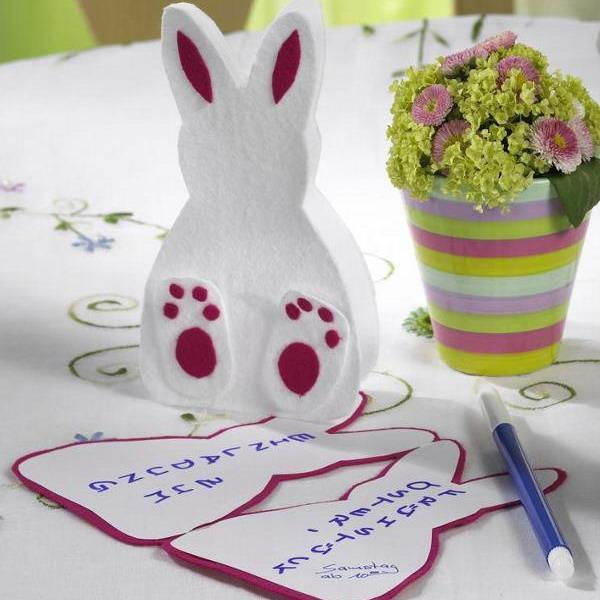 10 Easy Easter Bunny Crafts And Handmade Table Decoration