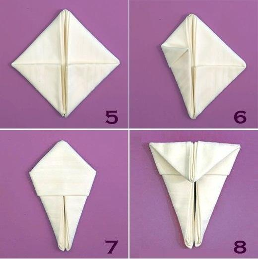 The Art of Folding Napkins for Easter Decorating, Creative ...
