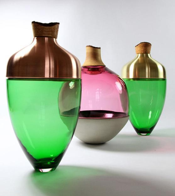 home decorations, handmade vases in various colors