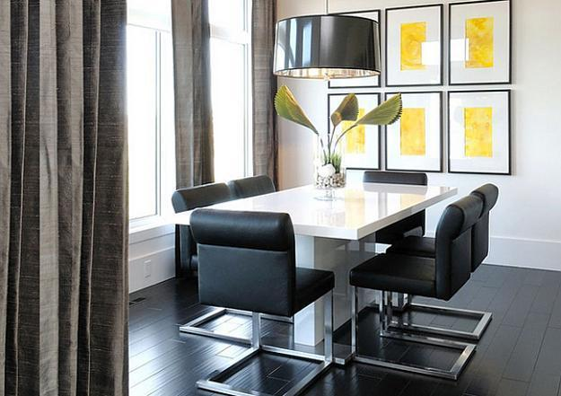 Classic And Contemporary Design Ideas, Fusion Of Styles And Modern Dining  Room Decorating By Atmosphere Interior Design