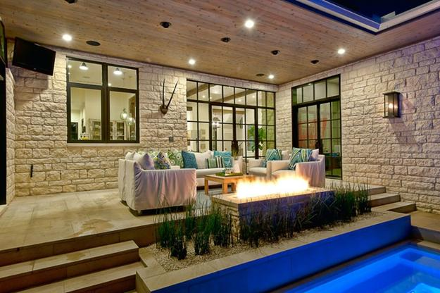 luxury homes with outdoor rooms
