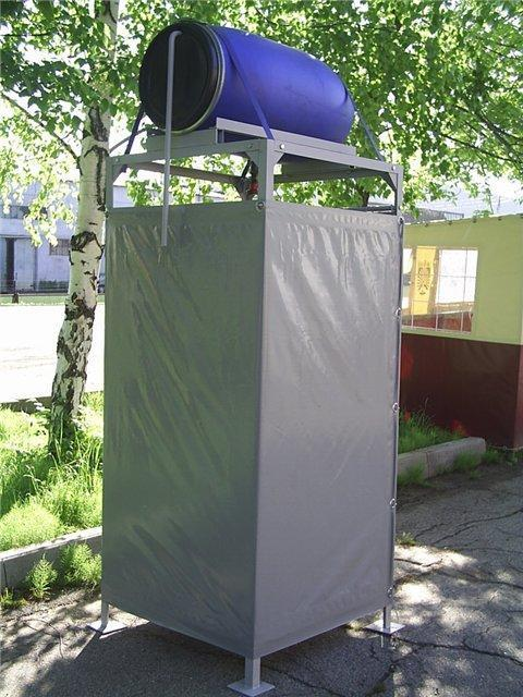 Outdoor Shower Designs With Containers Recycling Metal Barrels